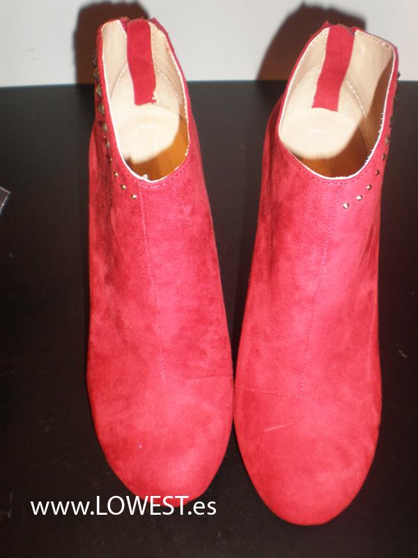 botines rojos piel