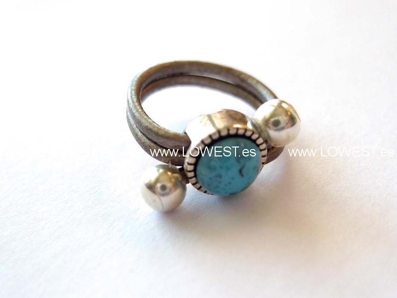 anillo agatas naturales