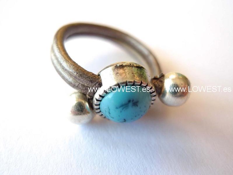 anillos plata piedras