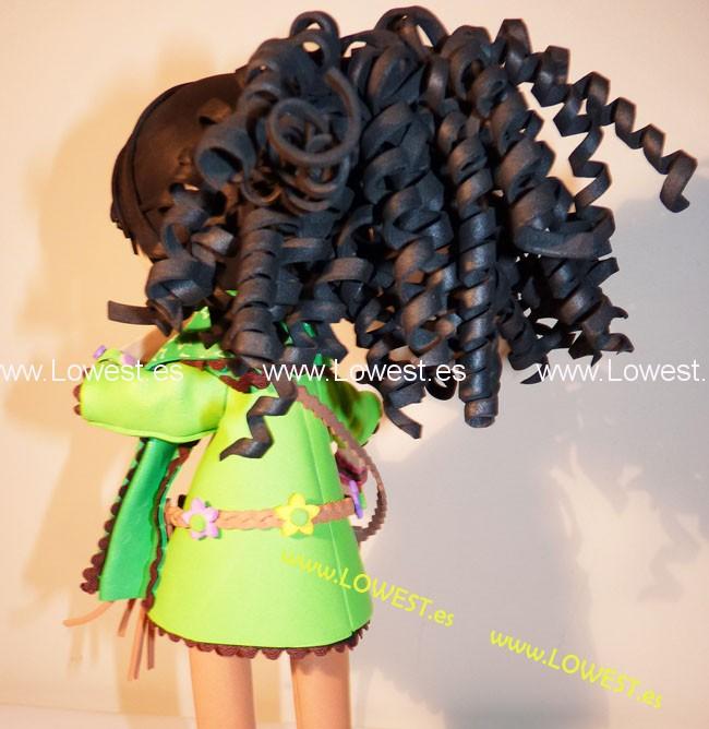 Como hacer el pelo rizado en fofuchas