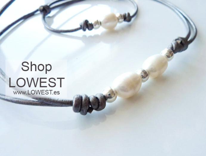 collar pulsera perlas