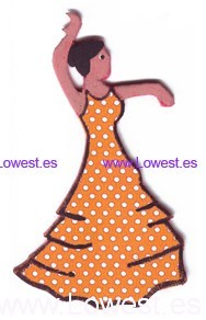 broche flamenca feria