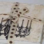 posavasos decoupage madera