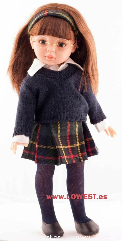 muñeca unforme colegio falda