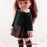 muñeca uniforme colegio