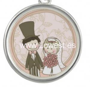 medalla boda novios