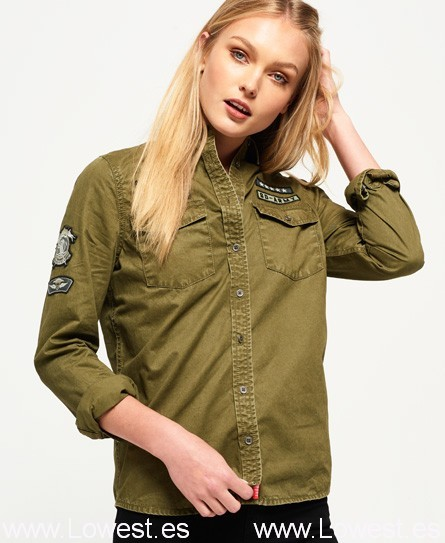 Camisa militar con parches Rookie
